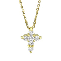 Roberto_Coin_18K_Yellow_Gold_Diamond_Cross_Pendant,_0.20cttw
