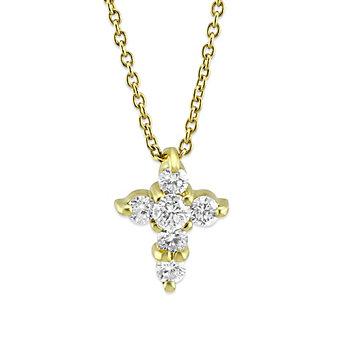Roberto Coin 18K Yellow Gold Diamond Cross Pendant, 0.20cttw