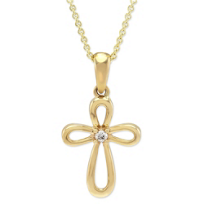 14K_Yellow_Gold_Diamond_Open_Cross_Pendant
