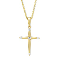 14K_Yellow_Gold_Contemporary_Diamond_Cross_Pendant,_0.06cttw