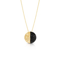 Phillips_House_14K_Yellow_Gold_Contrast_Black_Diamond_Circle_Pendant