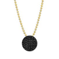Phillips_House_14K_Yellow_Gold_Vibrant_Affair_Black_Diamond_Circle_Pendant