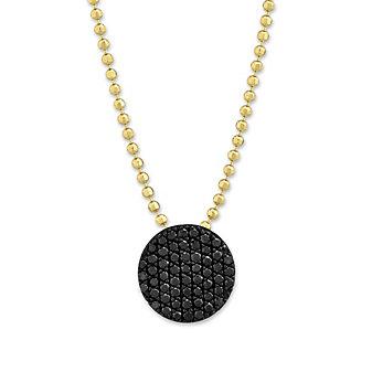 Phillips House 14K Yellow Gold Vibrant Affair Black Diamond Circle Pendant