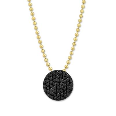 Phillips House 14K Yellow Gold Vibrant Affair Black Diamond Circle Pendant
