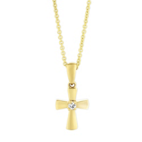 14K_Yellow_Gold_Diamond_Cross_Pendant,_0.02ct