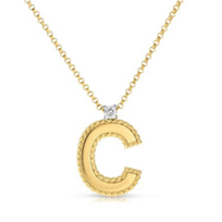 "Roberto_Coin_18K_Yellow_Gold_Diamond_Princess_""C""_Initial_Pendant_____________________"