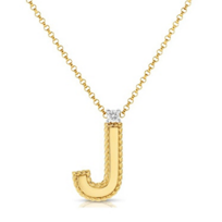 "Roberto_Coin_18K_Yellow_Gold_Diamond_Princess_""J""_Initial_Pendant"