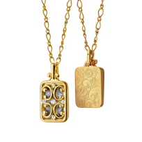 """Monica_Rich_Kosann_18K_Yellow_Gold_Rectangular_Gate_Locket_Necklace,_30"""""""