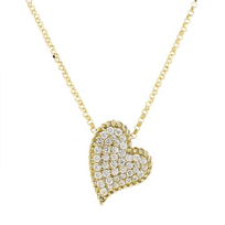 """roberto_coin_18k_yellow_gold_diamond_pave_heart_pendant_with_twisted_edge,_18"""""""