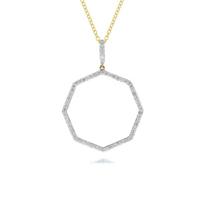 """phillips_house_14k_yellow_gold_diamond_25mm_open_octagon_hero_pendant,_30"""""""