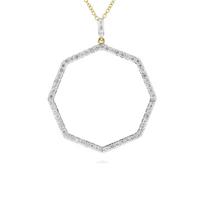 """phillips_house_14k_yellow_gold_diamond_40mm_open_octagon_hero_pendant,_30"""""""