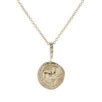 """robin_haley_faith/hare_carved_disc_diamond_pendant,_18"""""""