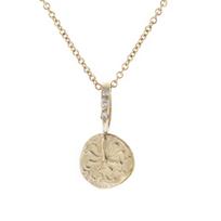 "robin_haley_octopus/balance_artifact_carved_disc_diamond_pendant,_18"""