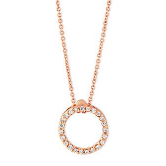 18K Diamond Circle of Life Necklace
