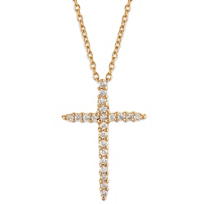 18k_Diamond_Cross_Pendant