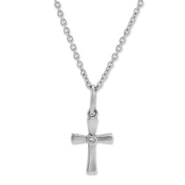 Sterling_Silver_Children's_Diamond_Cross_Pendant