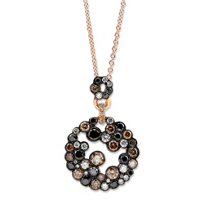 18K_Rose_Gold_Brown,_White_and_Black_Diamond_Pendant