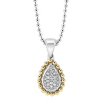 Lagos_Sterling_Silver_&_18K_Yellow_Gold_Diamonds_&_Caviar_Necklace