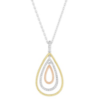 18K_Yellow,_Rose_and_White_Gold_Teardrop_Diamond_Pendant,_16""