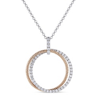 14k_rose_and_white_gold_diamond_double_circle_pendant,_18""