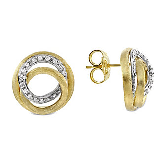 Marco Bicego 18K Yellow & White Gold Jaipur Link Diamond Earrings, 0.29cttw