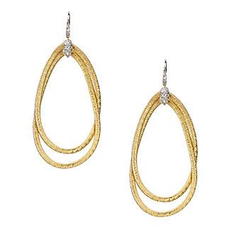 Marco Bicego 18K Yellow & White Gold Il Cairo Diamond Earrings, 0.23cttw