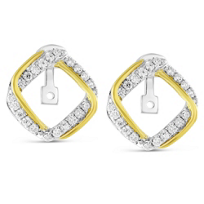 14K_Yellow_&_White_Gold_Square_Diamond_Earring_Jackets,_Convertible
