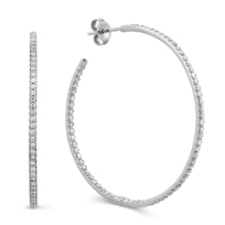Roberto_Coin_18K_White_Gold_Diamond_Hoop_Earrings,_1.75""
