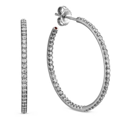Roberto_Coin_18K_White_Gold_Large_Diamond_Hoop_Earrings,_1.20""