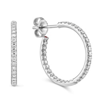Roberto_Coin_18K_White_Gold_Diamond_Hoop_Earrings,_3/4""