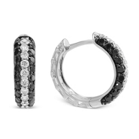 14K_White_Gold_Black_and_White_Diamond_Hoop_Earrings,_1/2""