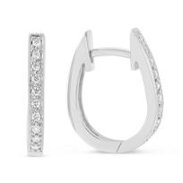 14K_White_Gold_Round_Diamond_Oval_Hoop_Earrings