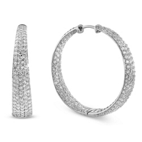 Roberto_Coin_18K_White_Gold_Diamond_Scalare_Hoops,_3.87cttw