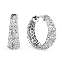 Roberto_Coin_18K_White_Gold_Diamond_Scalare_Hoops,_0.65cttw