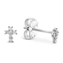 14K_White_Gold_Child's_Diamond_Cross_Earrings