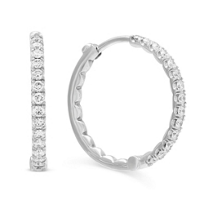 Roberto_Coin_18K_White_Gold_Diamond_Inside_Out_Hoop_Earrings,_3/4""