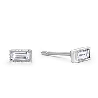 Sethi Couture 18K White Gold Baguette Diamond Earrings