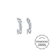 Diama_18K_White_Gold_Encounter_Swarovski_Created_Diamond_Cluster_Earrings