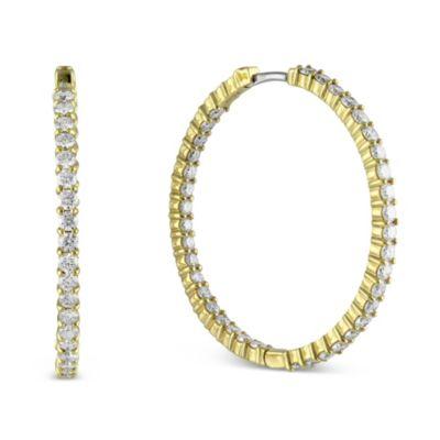 "Roberto_Coin_18K_Yellow_Gold_Diamond_Hoop_Earrings,_1_1/2"""