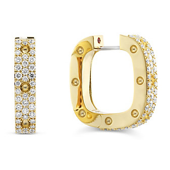 Roberto Coin 18K Yellow Gold Diamond Pois Moi Earrings
