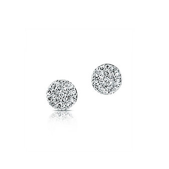phillips house 14k yellow gold diamond pave stud earrings