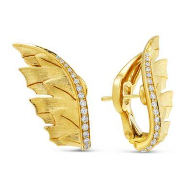 Stephen Webster 18K Yellow Gold Diamond Magnipheasant Wing Earrings