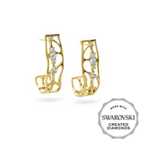 Diama_18K_Yellow_Gold_Lace_Swarovski_Created_Diamond_Earrings