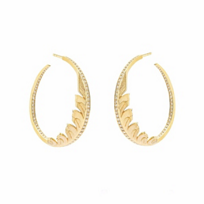 stephen_webster_18k_yellow_gold_diamond_pave_magnipheasant_feather_hoop_earrings