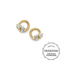 Diama_18K_Yellow_Gold_Glacial_Swarovski_Created_Diamond_Circle_Stud_Earrings