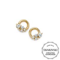 Diama_18K_Yellow_Gold_Glacial_Swarovski_Created_Diamond_Circle_Stud_Earrings