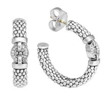 Lagos_Sterling_Silver_Enso_Diamond_Hoop_Earrings