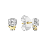 Lagos_Sterling_Silver_&_18K_Yellow_Gold_Diamond_Lux_Stud_Earrings