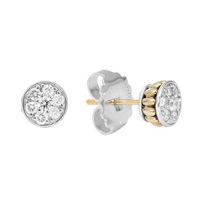 Lagos_Sterling_Silver_&_18K_Yellow_Gold_Diamonds_&_Caviar_Stud_Earrings,_0.50cttw