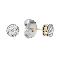 Lagos_Sterling_Silver_&_18K_Yellow_Gold_Diamonds_&_Caviar_Stud_Earrings,_0.37cttw